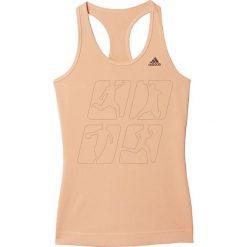 Adidas Koszulka treningowa Techfit Solid W M. Szare topy sportowe damskie marki Adidas, l, z dresówki, na jogę i pilates. Za 70,93 zł.