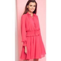 Sukienka z wiązaniem pod szyją Cocomore Boutiqe różowa. Czerwone sukienki hiszpanki Yups, l, w jednolite wzory, z falbankami. Za 139,93 zł.