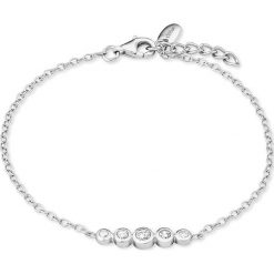Bransoletki damskie na nogę: Srebrna bransoletka z elementem ozdobnym