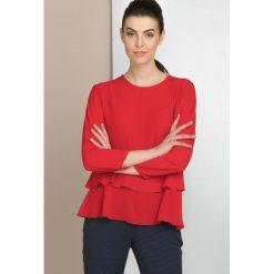 Bluzki damskie: Romantyczna bluzka z falbanką