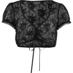 Bluzka koronkowa do sukienki ludowej bonprix czarny. Czarne bluzki damskie marki bonprix, z koronki. Za 74,99 zł.