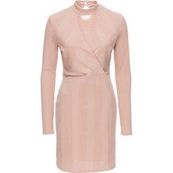 """Sukienki: Sukienka z dżerseju z opaską """"choker"""" bonprix stary jasnoróżowy"""