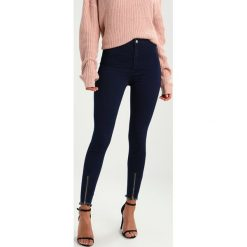 Rurki damskie: Missguided VICE HIGH WAISTED ZIP FRONT Jeans Skinny Fit black
