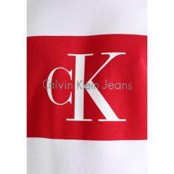 Calvin Klein Jeans HOTORO REGULAR FIT Bluza bright white. Białe kardigany męskie Calvin Klein Jeans, m, z bawełny. W wyprzedaży za 359,20 zł.