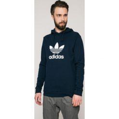 Adidas Originals - Bluza. Czarne bluzy męskie rozpinane adidas Originals, l, z nadrukiem, z bawełny, z kapturem. W wyprzedaży za 219,90 zł.