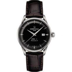 RABAT ZEGAREK CERTINA DS 1 C029.807.16.051.00. Czarne zegarki męskie CERTINA, ze stali. W wyprzedaży za 2323,20 zł.