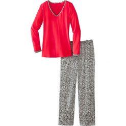 Piżama bonprix czerwony leo. Czerwone piżamy damskie bonprix. Za 59,99 zł.