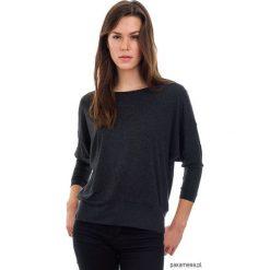 Damski Sweter Nietoperz DIRIAS VIRIDIS. Niebieskie kardigany damskie marki Pakamera, z bawełny. Za 163,00 zł.