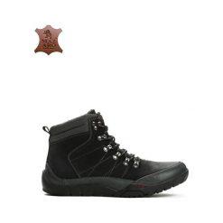 Czarne Skórzane Trapery Offense. Czarne trapery męskie marki Born2be, ze skóry, za kostkę, na sznurówki. Za 189,99 zł.