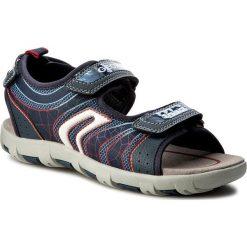 Sandały GEOX - J Sand.Pianeta A J7264A 011FE C0735 D Morski/Czerwony. Niebieskie sandały męskie skórzane Geox. W wyprzedaży za 219,00 zł.