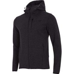 Bluzy męskie: Bluza męska BLM005 - ciemny szary melanż