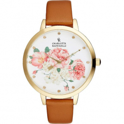 Zegarek kwarcowy w kolorze karmelowo-złotym. Brązowe, analogowe zegarki damskie Stylowe zegarki, złote. W wyprzedaży za 122,95 zł.