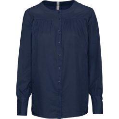 Bluzka bonprix ciemnoniebieski. Niebieskie bluzki z odkrytymi ramionami bonprix, z materiału. Za 59,99 zł.