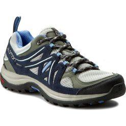 Buty trekkingowe damskie: Trekkingi SALOMON - Ellipse 2 Aero W 379206 20 W0 Titanium/Deep Blue/Petuna Blue