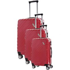 Walizki: Zestaw walizek w kolorze czerwonym – 3 szt.