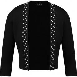 Kardigan w kolorze czarnym. Czarne kardigany damskie marki Taifun, z bawełny. W wyprzedaży za 108,95 zł.