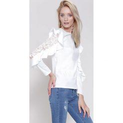 Bluzki damskie: Biała Bluzka Dolce Rosa