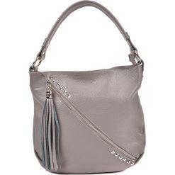 Torebka w kolorze szarym - (S)34,5 x (W)31 x (G)8 cm. Szare torebki klasyczne damskie Bestsellers bags, w paski, z materiału. W wyprzedaży za 259,95 zł.