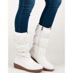 Buty zimowe damskie: BIAŁE ŚNIEGOWCE