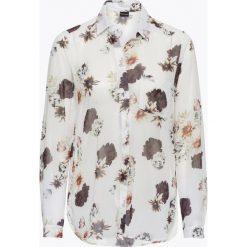 Bluzki damskie: Bluzka szyfonowa bonprix biel wełny z nadrukiem