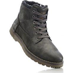 Kozaki sznurowane Mustang bonprix antracytowy. Czarne buty zimowe męskie marki bonprix, tenisowe. Za 299,99 zł.