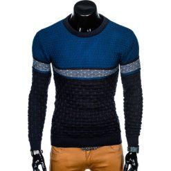 SWETER MĘSKI E132 - GRANATOWY. Zielone swetry klasyczne męskie marki Ombre Clothing, na zimę, m, z bawełny, z kapturem. Za 49,00 zł.