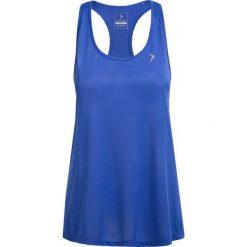 Top treningowy damski TSDF002 - kobalt - Outhorn. Niebieskie topy damskie Outhorn, z materiału. W wyprzedaży za 39,99 zł.