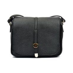Torebki klasyczne damskie: Skórzana torebka w kolorze czarnym – (S)21 x (W)25 x (G)6 cm