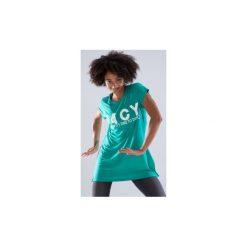 Tunika do tańca długa damska. Zielone tuniki damskie z długim rękawem DOMYOS, z okrągłym kołnierzem. Za 59,99 zł.