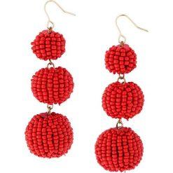Kolczyki damskie: Wiszące kolczyki bonprix czerwono-złoty kolor
