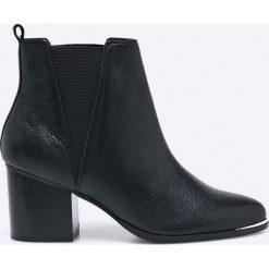 Steve Madden - Botki Flaknei. Czarne buty zimowe damskie marki Steve Madden, z materiału. W wyprzedaży za 299,90 zł.