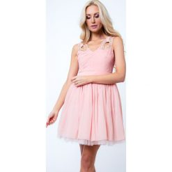 Sukienka z orginalnymi ramiączkami jasnoróżowa G5275. Czerwone sukienki Fasardi, l. Za 79,00 zł.