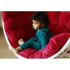 Spodnie niemowlęce: Komplet spodnie i kaftanik, szmaragdowe