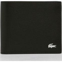 Lacoste - Portfel skórzany. Czarne portfele męskie Lacoste, z materiału. W wyprzedaży za 279,90 zł.