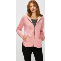 Roxy - Bluza. Różowe bluzy rozpinane damskie Roxy, l, z dzianiny, z kapturem. Za 339,90 zł.