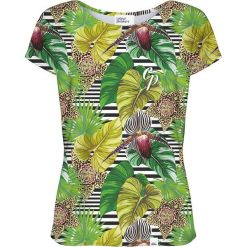 Colour Pleasure Koszulka damska CP-034 271 zielona r. XS/S. Zielone bluzki damskie Colour pleasure, s. Za 70,35 zł.