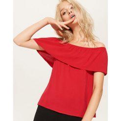 Bluzki damskie: Bluzka typu hiszpanka - Czerwony