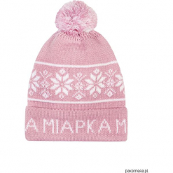 Czapka zimowa Nordycka Malina. Różowe czapeczki niemowlęce Pakamera, na zimę, z napisami. Za 65,00 zł.