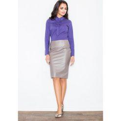 Spódniczki: Klasyczna Elegancka Ołówkowa Spódnica w Kolorze Mocca
