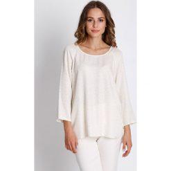 Bluzki, topy, tuniki: Złota bluzka z długim rękawem i delikatnym wzorem  BIALCON
