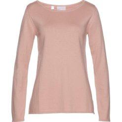 Sweter bonprix stary jasnoróżowy. Czerwone swetry klasyczne damskie bonprix, z dekoltem w łódkę. Za 99,99 zł.