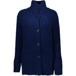 Swetry rozpinane damskie: Sweter rozpinany w kolorze granatowym
