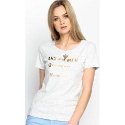 Szary T-shirt Gleaming. Szare t-shirty damskie Born2be, l. Za 39,99 zł.