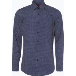 HUGO - Koszula męska – Kenno, niebieski. Niebieskie koszule męskie na spinki marki HUGO, m, z bawełny. Za 399,95 zł.