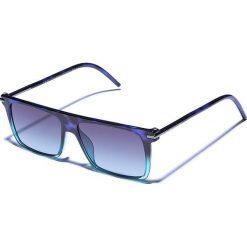 Okulary przeciwsłoneczne męskie aviatory: Okulary męskie w kolorze niebieskozielono-zielonym