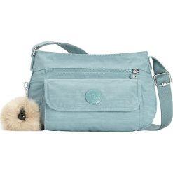 """Torebka """"Syro"""" w kolorze błękitnym - 31 x 22 x 12,5 cm. Niebieskie torebki klasyczne damskie Kipling, w paski, z materiału. W wyprzedaży za 143,95 zł."""