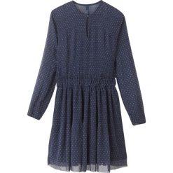 Długie sukienki: Sukienka rozkloszowana, krótka rozszerzana jednolita, długi rękaw