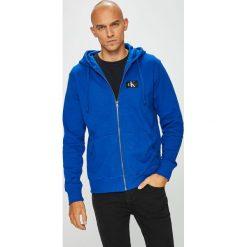 Calvin Klein Jeans - Bluza. Szare bluzy męskie rozpinane marki Calvin Klein Jeans, l, z bawełny, z kapturem. Za 499,90 zł.