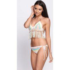 Biało-Niebieskie Bikini Invisible Touch. Białe bikini Born2be. Za 79,99 zł.