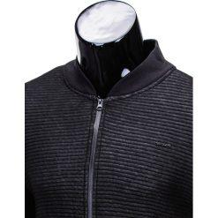 BLUZA MĘSKA ROZPINANA BEZ KAPTURA B551 - CZARNA/MELANŻOWA. Czarne bluzy męskie rozpinane marki Ombre Clothing, m, z bawełny, bez kaptura. Za 49,00 zł.